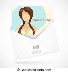 Postal Envelopes With Greeting Card.
