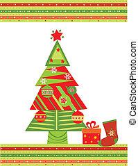 postal, navidad, saludo
