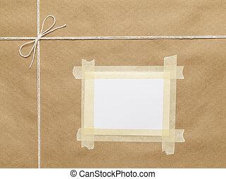 postal, pacote, topo