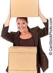 postal, paquet, secrétaire