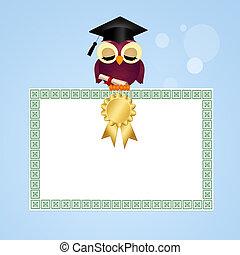 postal, para, graduación