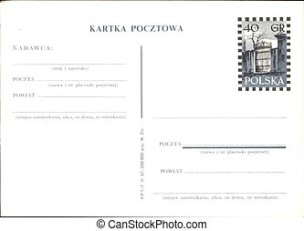 postal, polaco, propaganda
