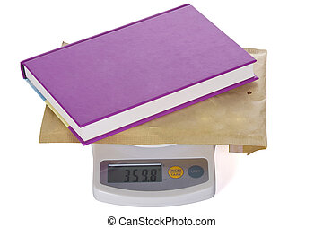 Postal scale with Book letter