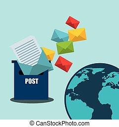 postal service design - postal service design, vector...