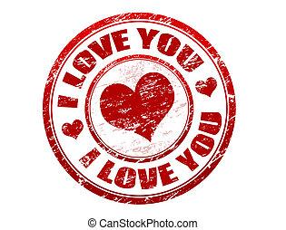 Postal stamp i love you