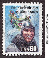 Postal stamp - USA - CIRCA 1995: A stamp printed in the USA...