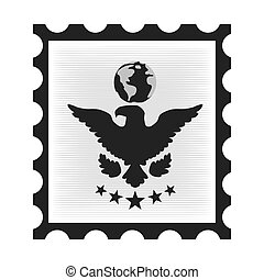 postal stamp with eagle
