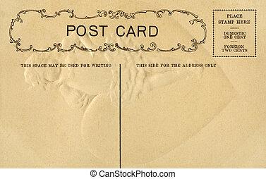 postal, vendimia, escritura, espacio