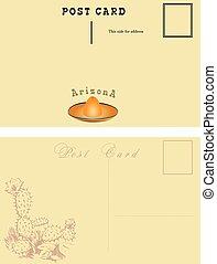postale, scheda, arizona