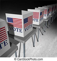 postavení, hlasovat, sjednocený