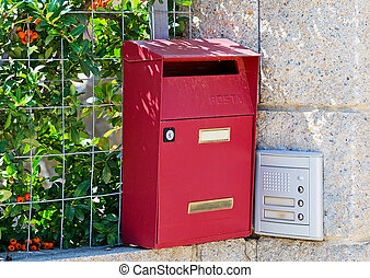 postbox and entry phone