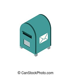 postbox correspondence postal mail isometric