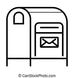 Postbox icon vector