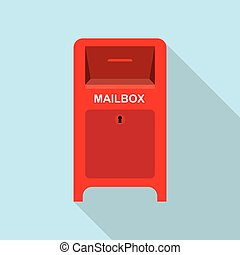 postbox., rue, rouges