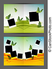 Postcard design, insert your photos, background with...