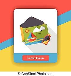 postcard flat icon