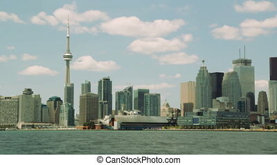 Postcard from Toronto. Timelapse. - Timelapse shot of...
