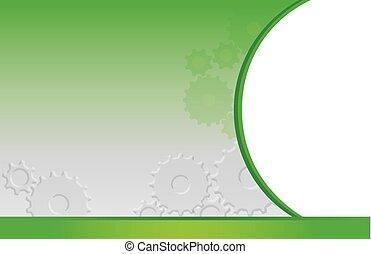 postcard green gears