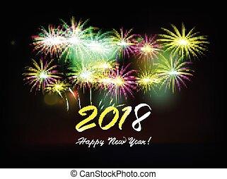 Postcard Happy New Year 2018