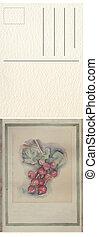 postcard, Illustrtion - Hand drawn watercolor painting...