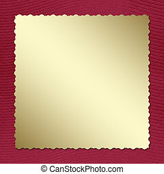Postcard invitation to the claret background for anniversary