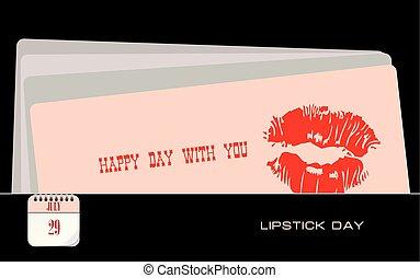 Postcard Lipstick Day