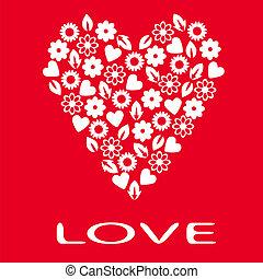 Postcard loving heart.