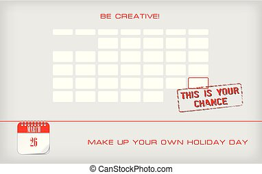 Postcard Make Up Your Own Holiday Day