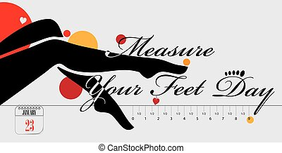 Postcard Measure Your Feet Day