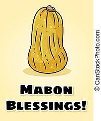 postcard., païen, automne, bénédictions, salutations, mabon...