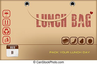 Postcard Pack Your Lunch Day