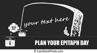 Postcard Plan Your Epitaph Day