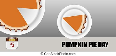 Post card for event december day Pumpkin Pie Day