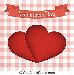 Postcard red heart on Valentine s Day