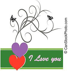 Postcard to the Valentine's Day and the holiday of love