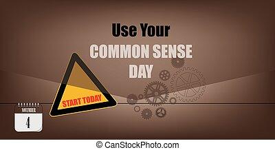 Postcard Use Your Common Sense Day