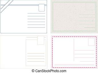 Postcard Vectors - Blank postcard vectors isolated on white ...