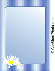 Postcard with camomile flowers. Vector