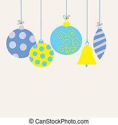 Postcard with Christmas toys