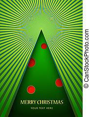 Postcard with Christmas tree.