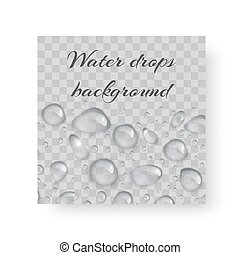 Postcard with drops of dew - Organic background design for...