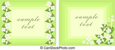Postcard with jasmine