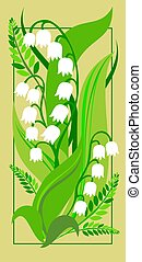 Lily of the valley - Postcard with Lily of the valley