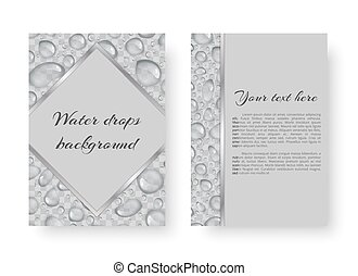 Postcard with rain drops - Template for the design of cards...