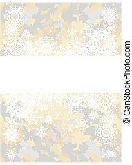 postcard with snowflakes
