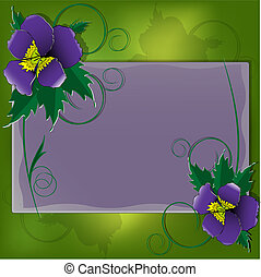 Postcard with violet - Illustration, bright festive postcard...