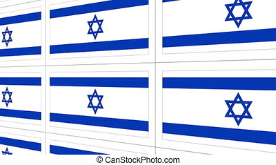 Postcards with Israel national flag