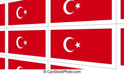 Postcards with Turkish national flag