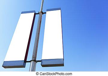 poste, blanco, señales