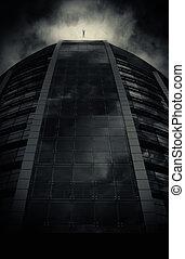 poste, cityscape, apocalyptique